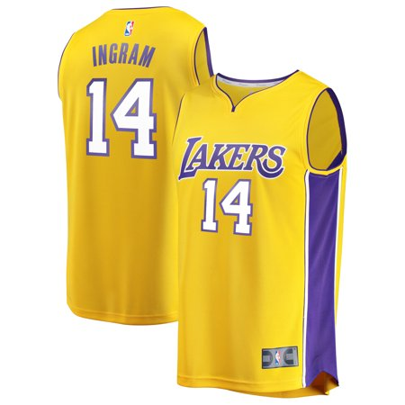 78259f7be Brandon Ingram Los Angeles Lakers Fanatics Branded Fast Break Replica  Jersey Gold - Icon Edition - Walmart.com