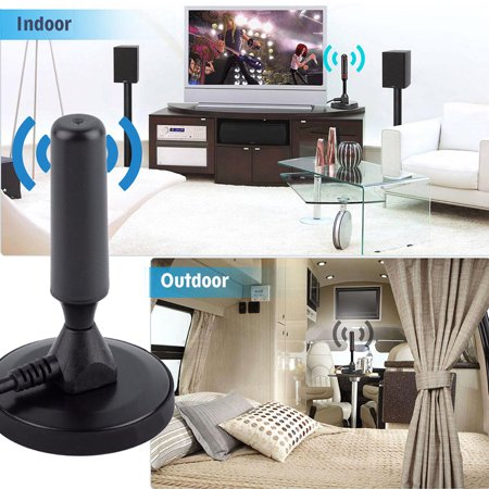 High Definition Digital Freeview Indoor TV Antenna Aerial Ariel with Magnetic Base ()