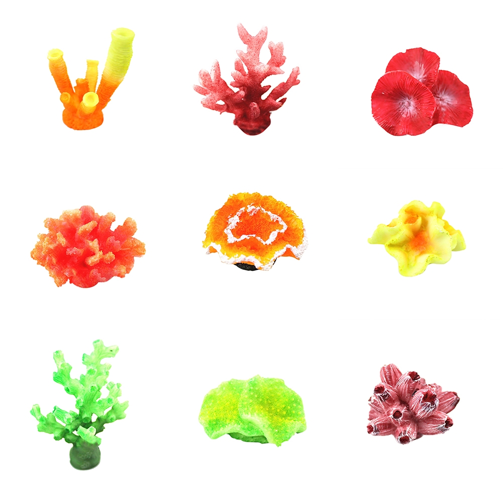 Heepo Soft Artificial Coral Starfish Plant Underwater Ornament for Aquarium Fish Tank