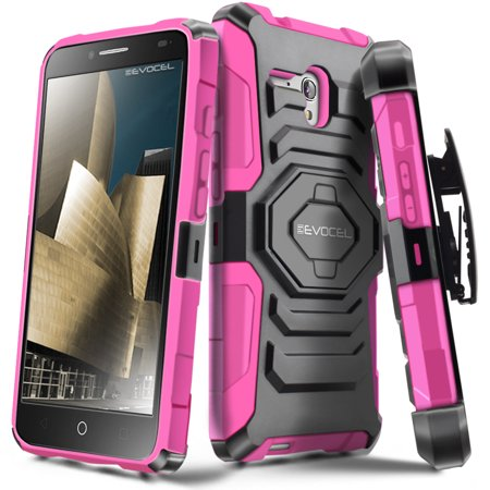 Alcatel Onetouch Fierce Xl Case  Evocel  New Generation  Rugged Holster Dual Layer Case  Kickstand  Belt Swivel Clip  For Alcatel Onetouch Fierce Xl   Pink