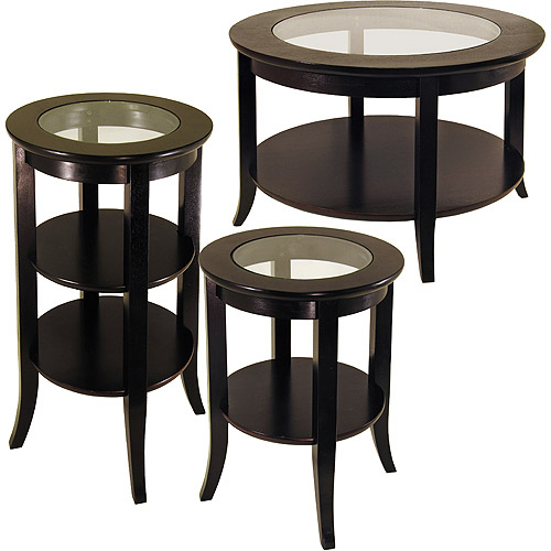 Genoa 3 Piece Coffee, Tall & End Table Value Bundle, Espresso - Walmart.com - Genoa 3 Piece Coffee, Tall & End Table Value Bundle, Espresso