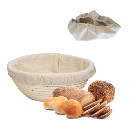 Baking Dry Basket Oval Shape Rattan Banneton Basket Bread Dough Proving Brotform Bowl Cloth cover
