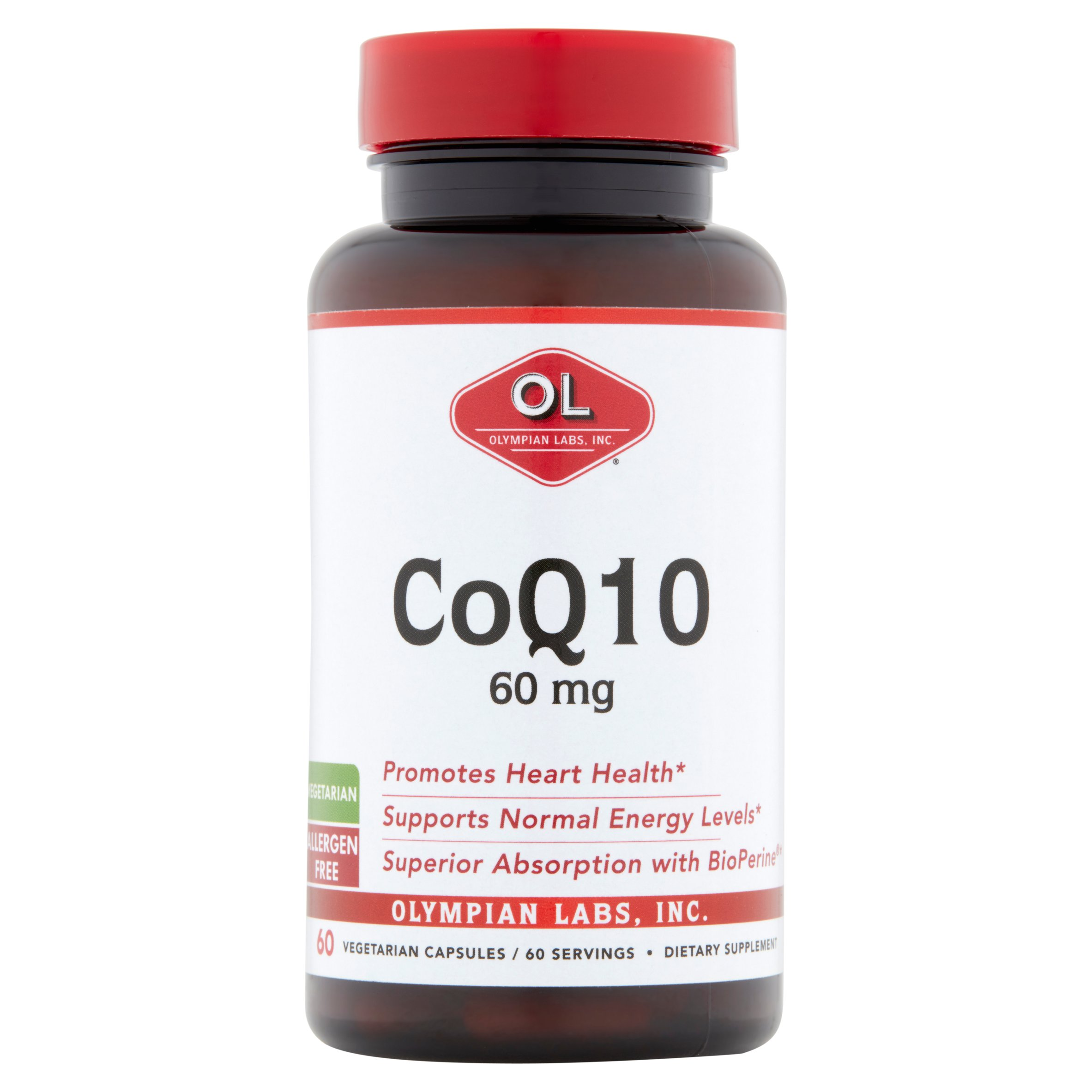 Olympian Labs Inc. CoQ10 Vegetarian Capsules, 60mg, 60 count