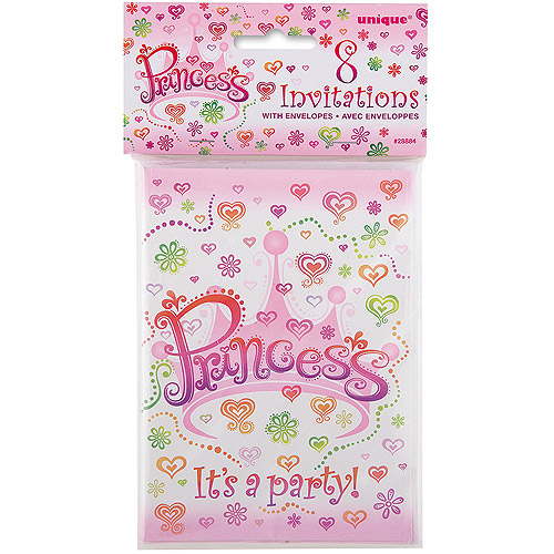 Princess Diva Invitations 8pk Walmart Com