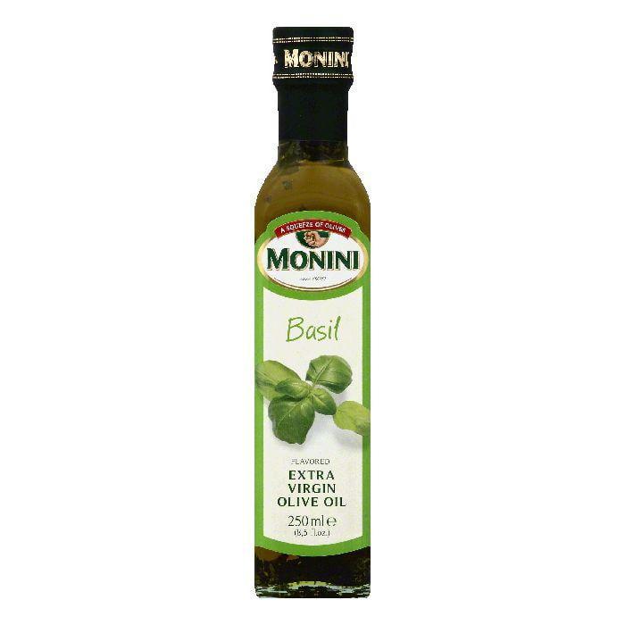 MONINI Basil Flavored Extra Virgin Olive Oil, 8.5 OZ (Pac...