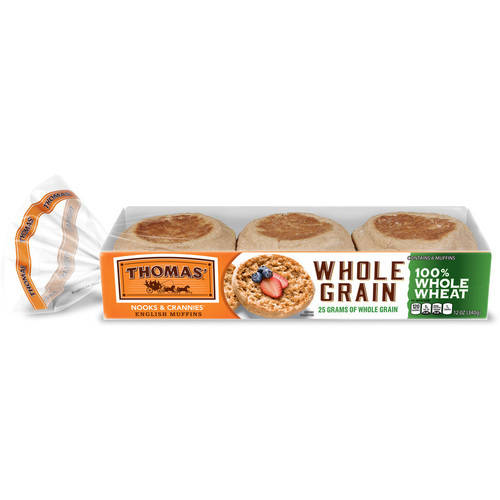 Thomas' English Muffins Whole Grain - 6 CT