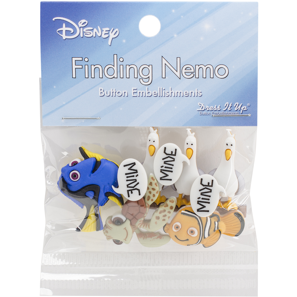 Dress It Up Licensed Embellishments-Disney Finding Nemo - image 1 of 1