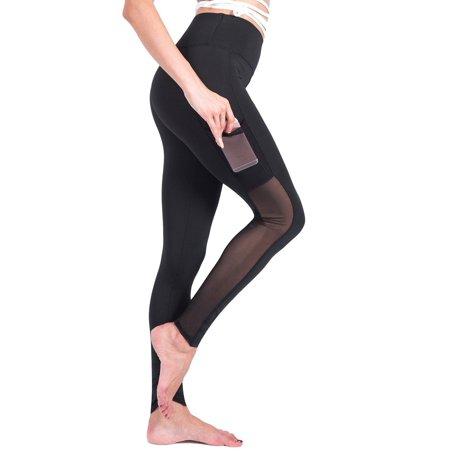 - SAYFUT Women's Activewear Yoga Pants Mesh Panels Gym Running Workout Exercise Fitness Tights Skinny Leggings Ankle Casual Trousers