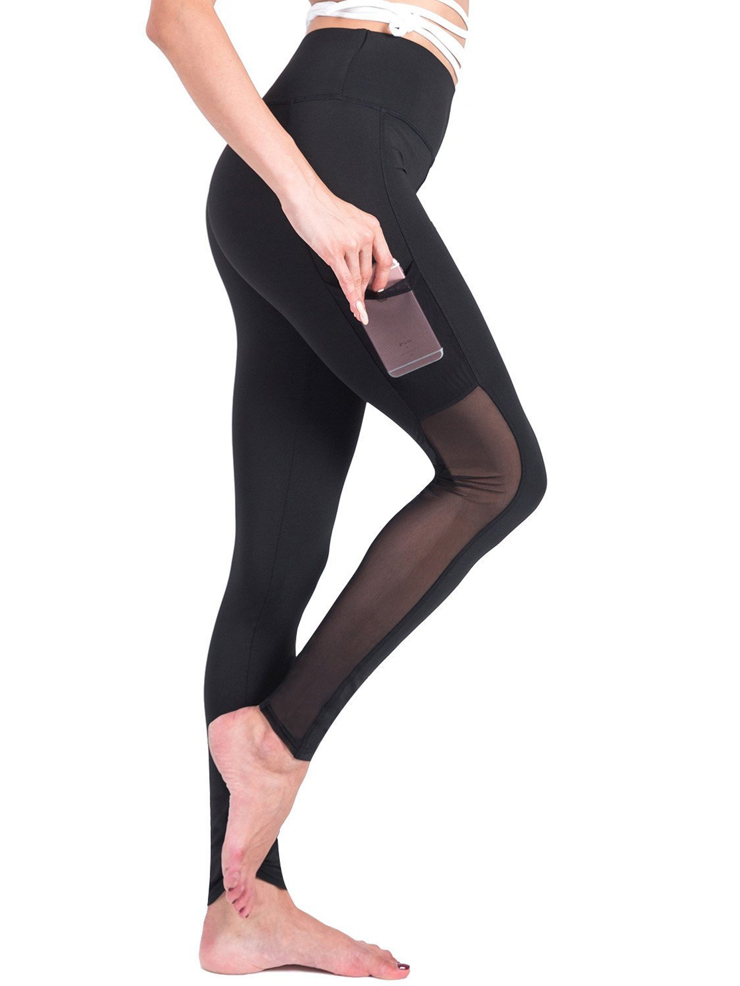 YOGA PANTS TIGHT SPORT WEAR ELASTIC THIN WOMEN FITNESS RUNNING TROUSERS WORKOUT
