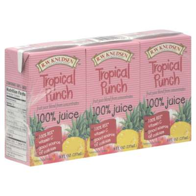 R.W. Knudsen Tropical Punch Aseptic 9/3/8 Oz (Pack of 9)