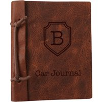 """Custom Authentic Leather Car Journal, Large: 8.8"""" x 5.85"""""""