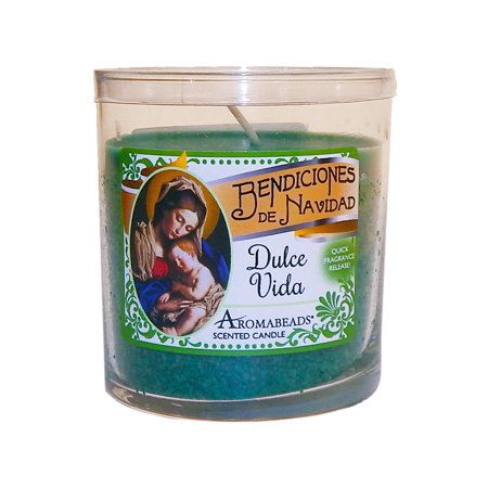 Hanna's Candles Jar Candle Tumbler Aromabeads 6oz Dulce