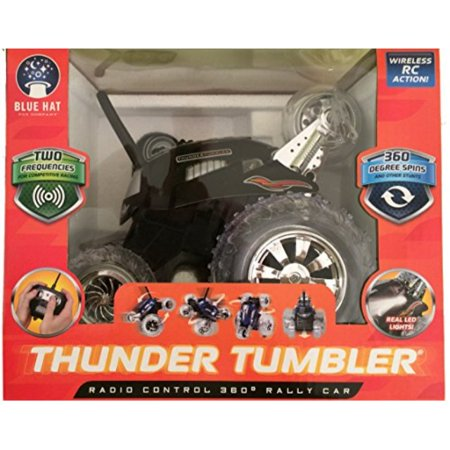 Thunder Tumbler Radio Control 360 Degree Rally Car (Blue Hat Toy Company Thunder Tumbler Rc Car)