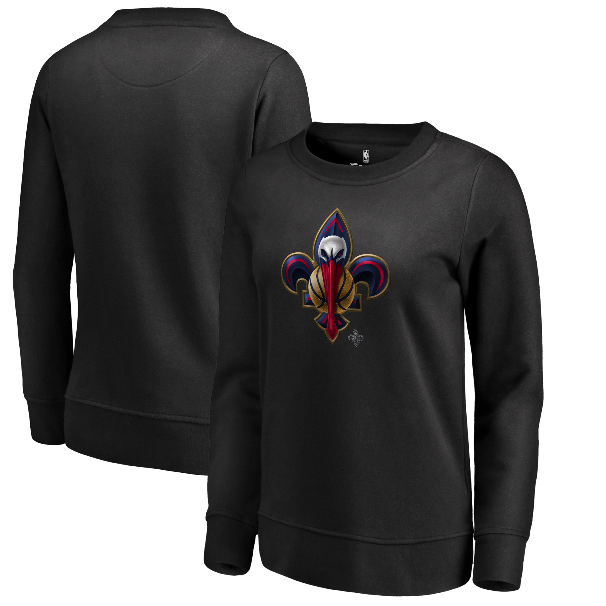New Orleans Pelicans Fanatics Branded Women's Midnight Mascot Pullover Sweatshirt - Black
