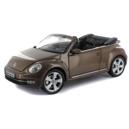 Volkswagen New Beetle Convertible Toffee Brown Metallic 1/18 Diecast Car Model by Kyosho