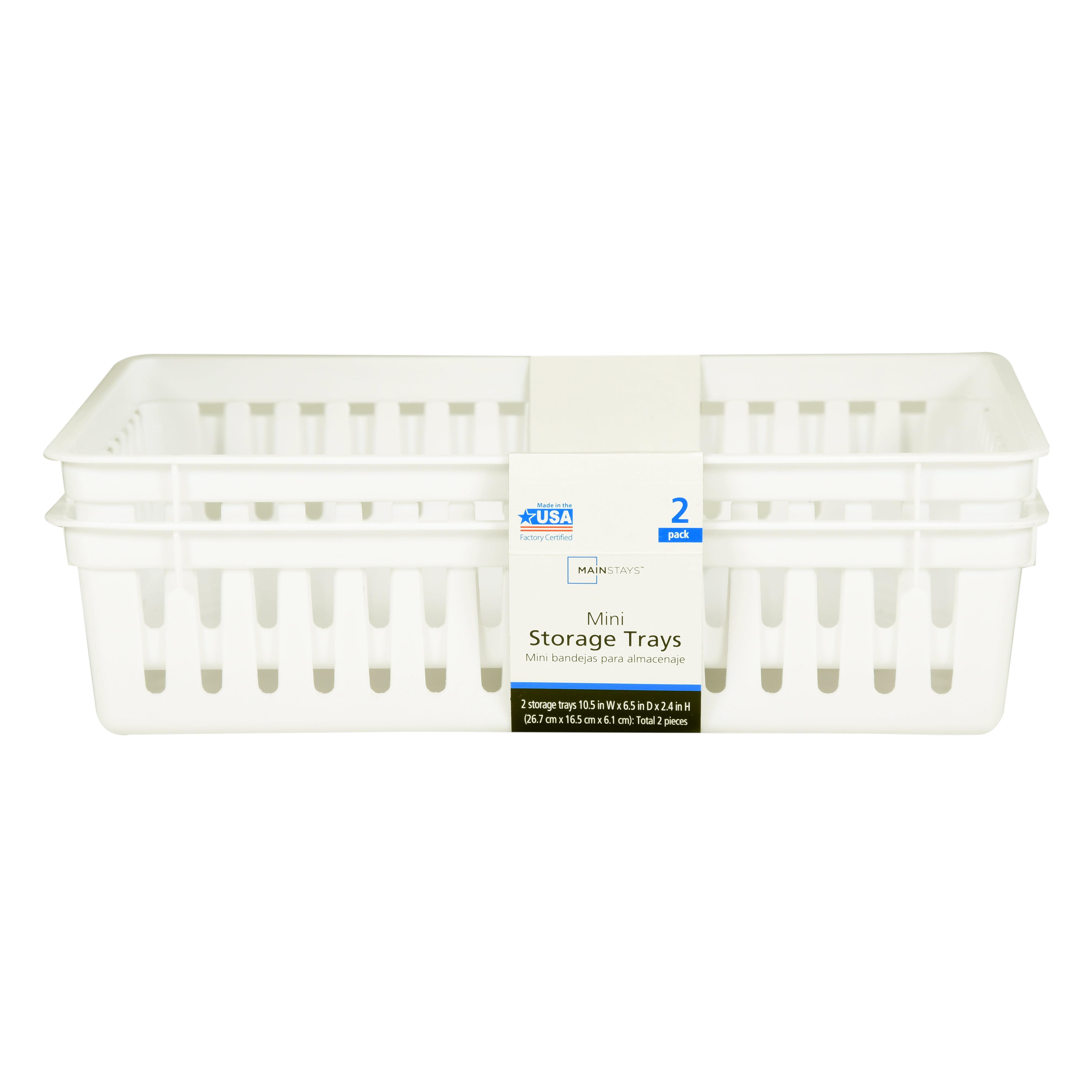 Rectangular Mini Bin White Storage