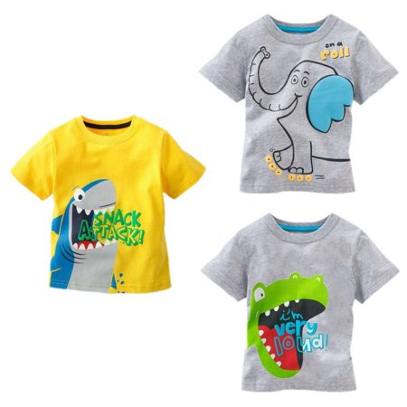 Cool Children Baby Kids Boys Cartoon Tees Tops T-shirts 1-6Y