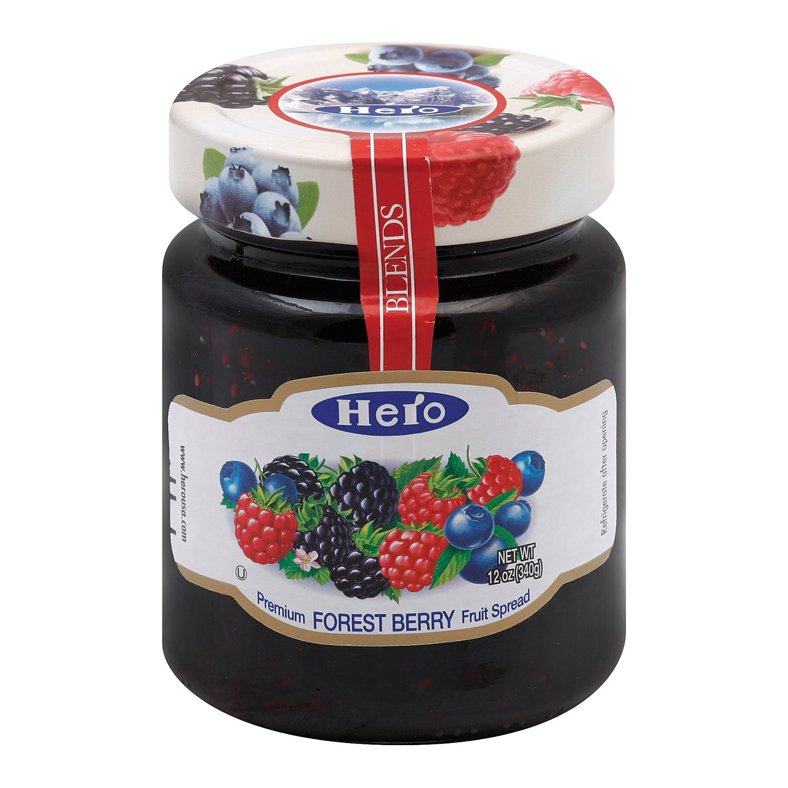Hero Fruit Spread, Forest Berry, 12 Oz