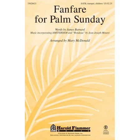 Shawnee Press Fanfare for Palm Sunday SATB arranged by Mary McDonald