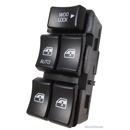 Buick Rendezvous Master Power Window Switch 2002-2007 (Black Buttons) SD-000872 (2002 2003 2004 2005 2006 2007) (electric control panel lock button auto driver passenger door) ()