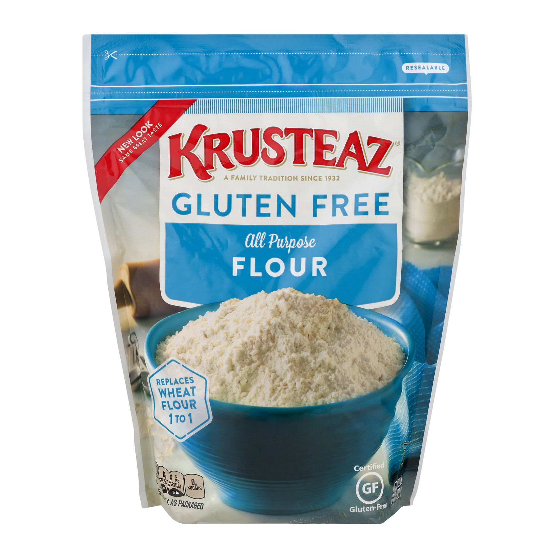 Krusteaz Gluten Free All Purpose Flour Mix, 32-Ounce