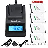 Kastar Fast Charger Kit and Battery (4_Pack) for Nikon Co...