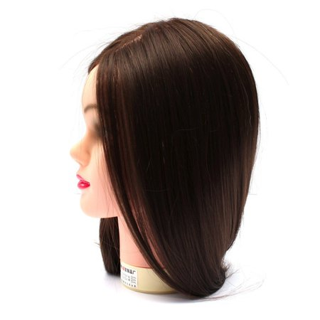LuckyFine Hairdressing Training Head 60% Real Hair 18'' Hairdressing Head Mold / Dummy Head / Practice Model with Bracket - image 7 of 7