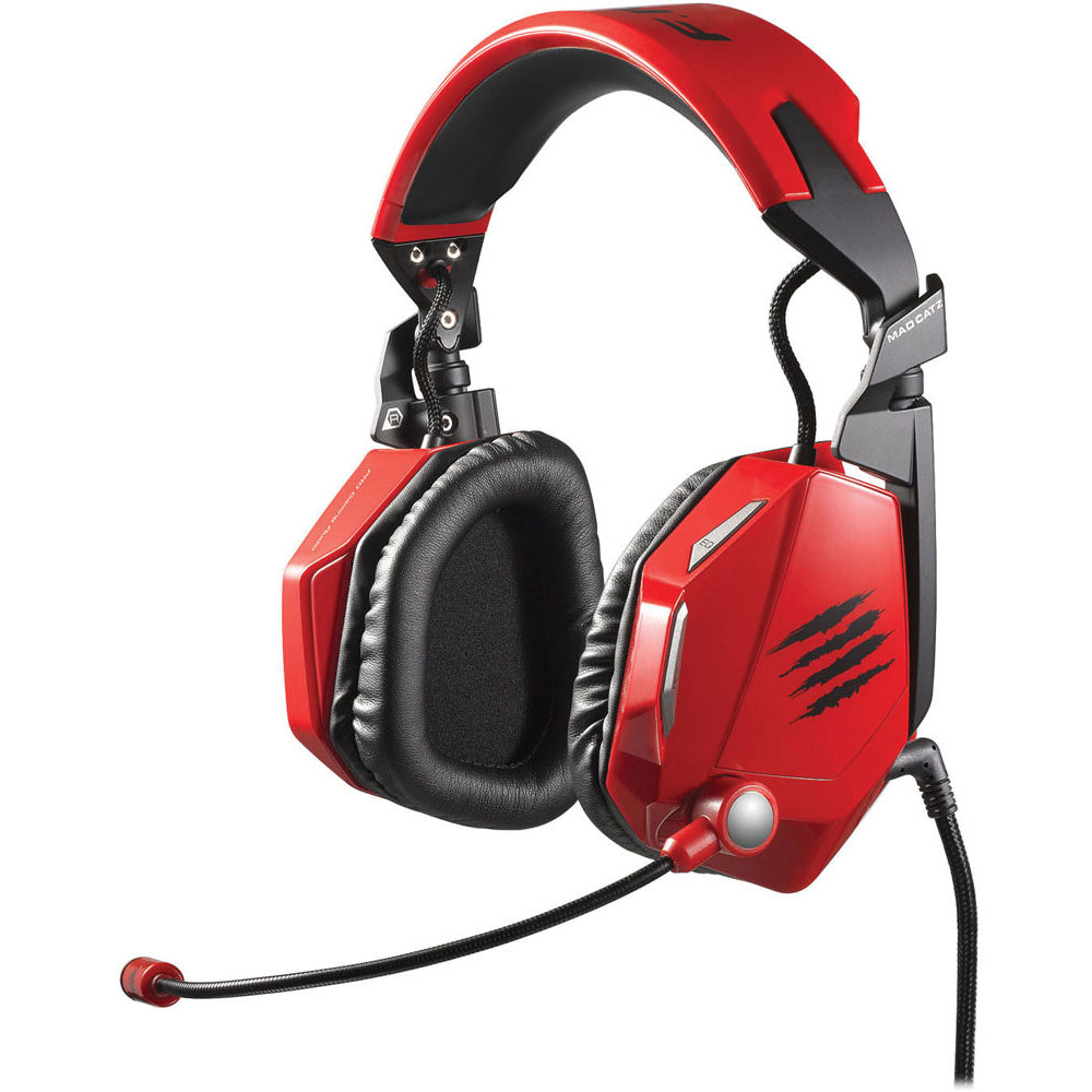 MadCatz F.R.E.Q. 5 PC & MAC Wired Stereo Gaming Headset Sound with Mic - Red