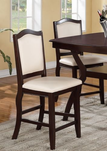 Charmant Set Of 2, Tufted Counter Height Stools  24u0027u0027 Seat High Chairs Bar