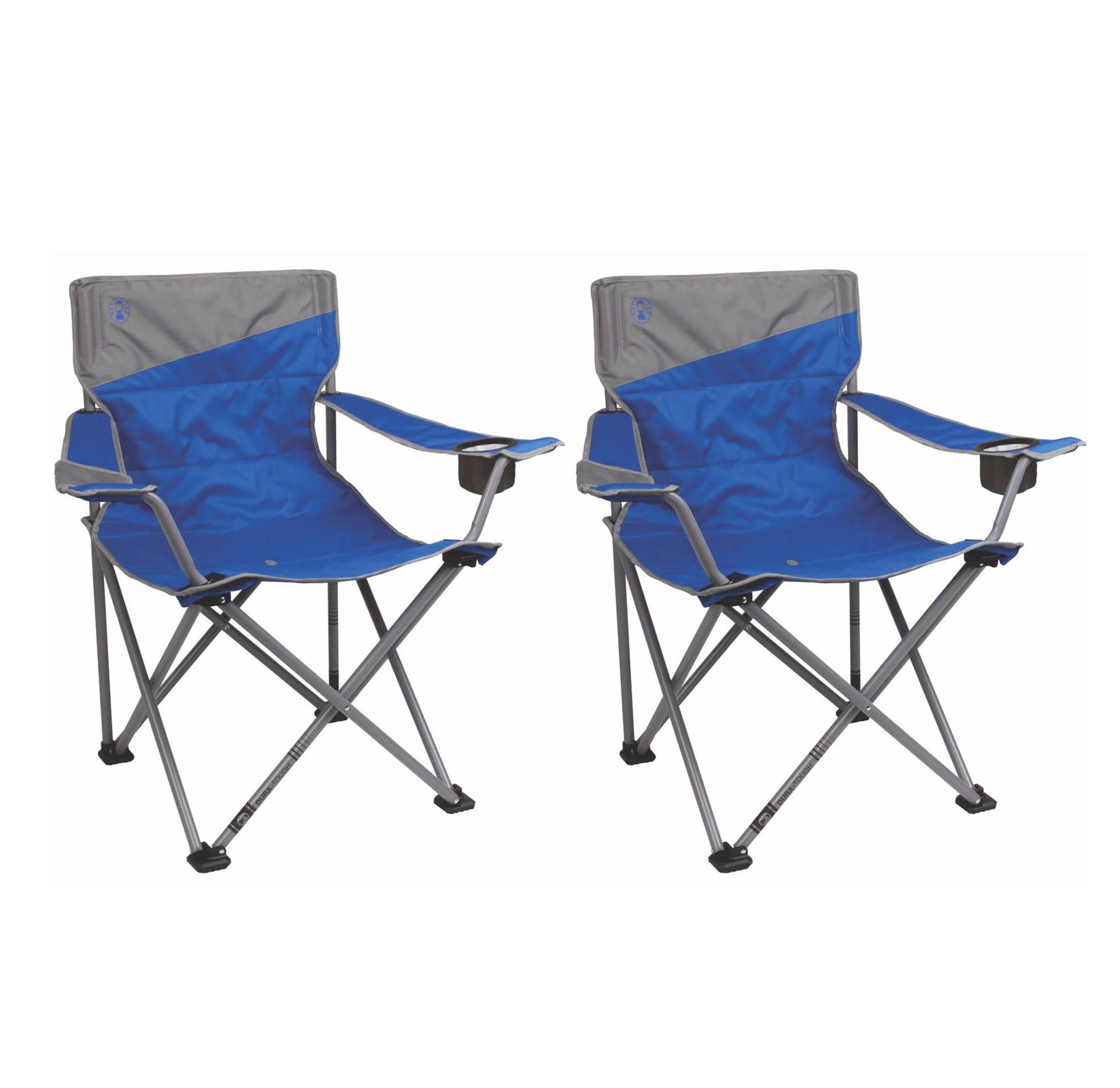 2 Coleman Camping Outdoor Beach Folding Big N Tall Oversized Quad