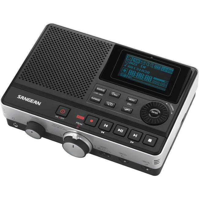 Sangean MP3 RECORDER SUPPORTS MP3 WMAPERPMEDIA W/ SD CARD USB