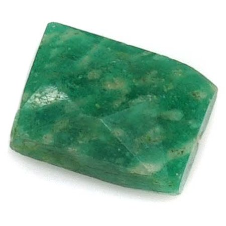 Faceted Rectangle Shape - Green Amazonite Faceted Rectangle Gemstone Beads 6-15mm (10)