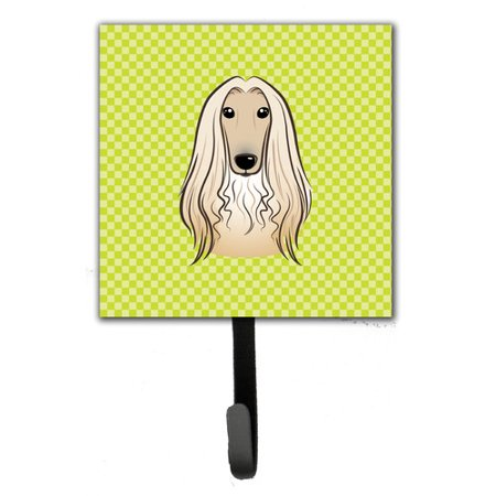 Caroline's Treasures Checkerboard Afghan Hound Leash Holder and Wall Hook