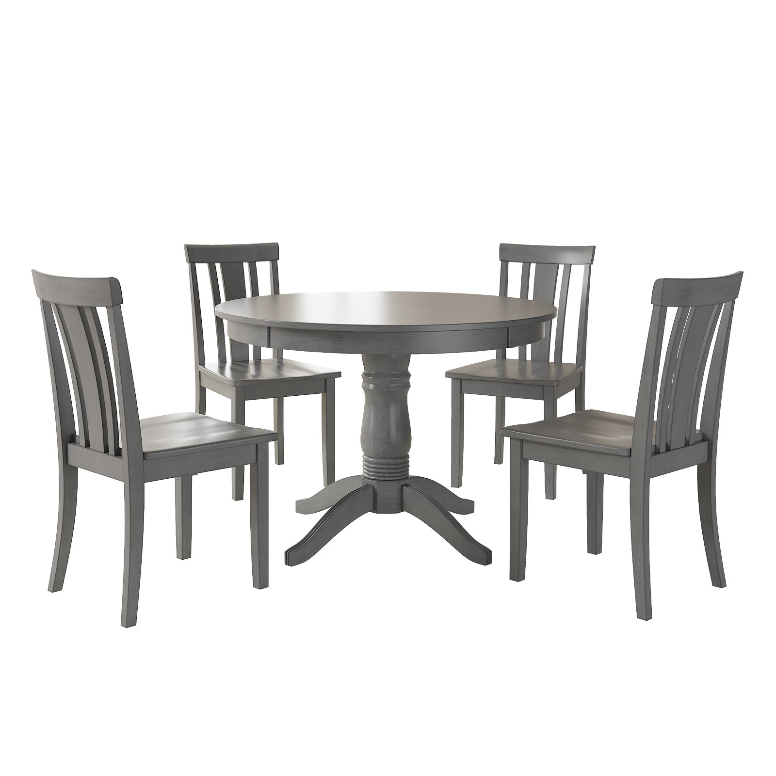 Awesome Farmhouse 5 Piece Dining Set