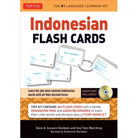 Indonesian Flash Cards : Learn the 300 most common Indonesian words with all their derived forms (Audio CD Included)