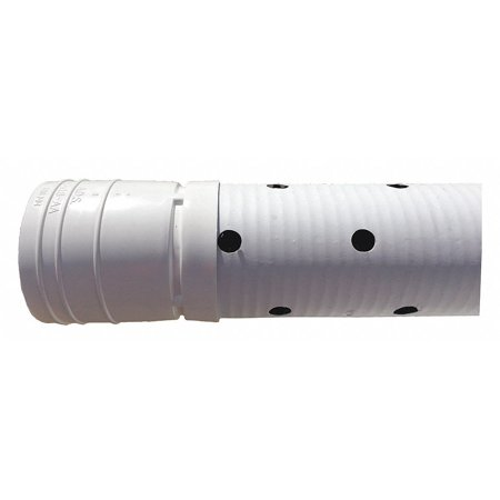Advanced Drainage Systems - ADVANCED DRAINAGE SYSTEMS 04530010 Corrugated Drainage Pipe,3Hole Prforated