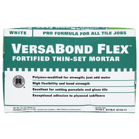 Custom Building Products  MTWS50WHT 50 Lb VersaBond Flex Fortified Thin Set