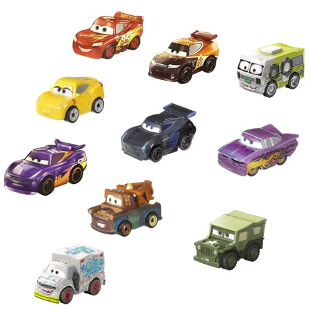 Disney Pixar Cars Mini Racers Metal Vehicle Variety 10 Pack