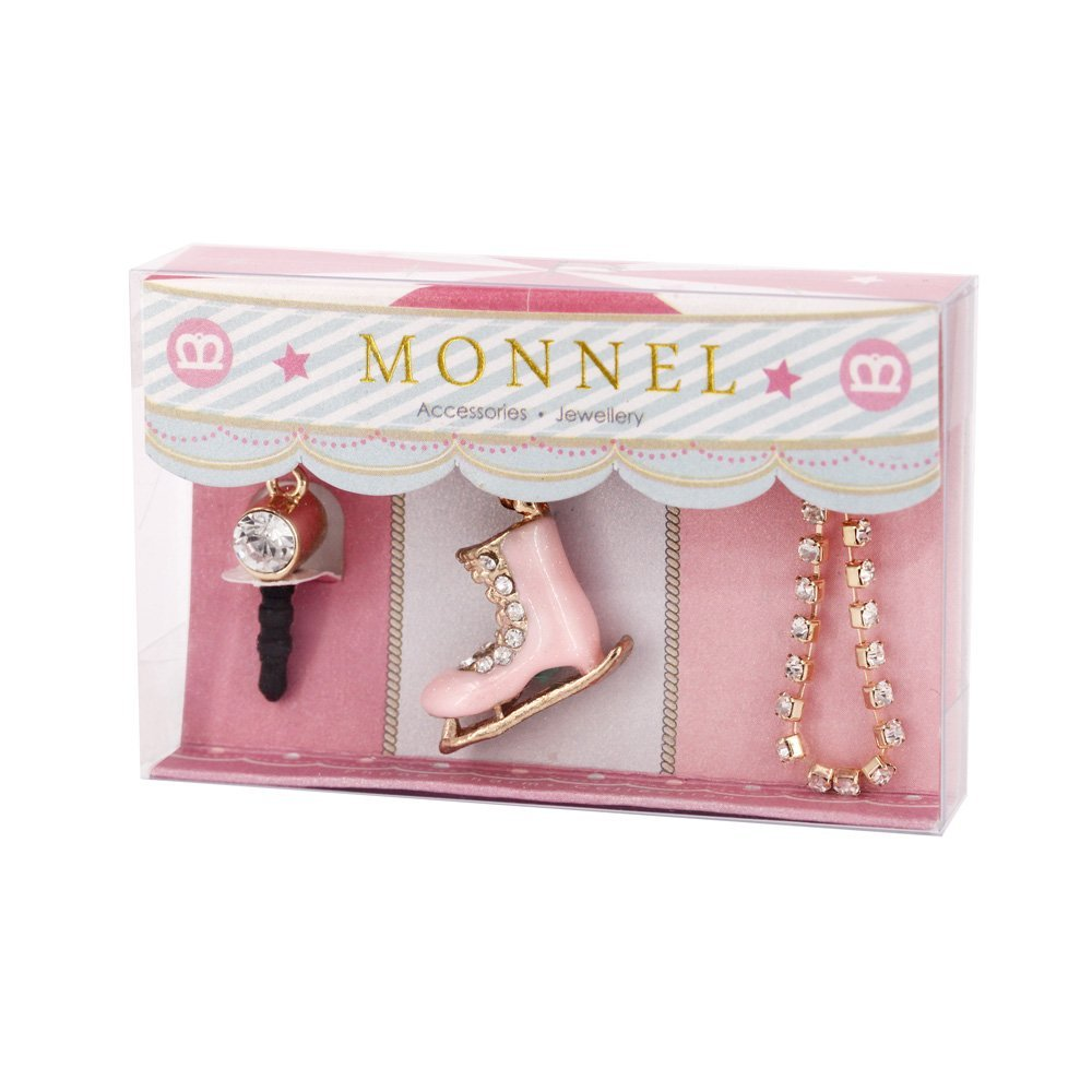 Cell Phone Charm Anti Dust Plug Pink Skate Shoe Accessory...