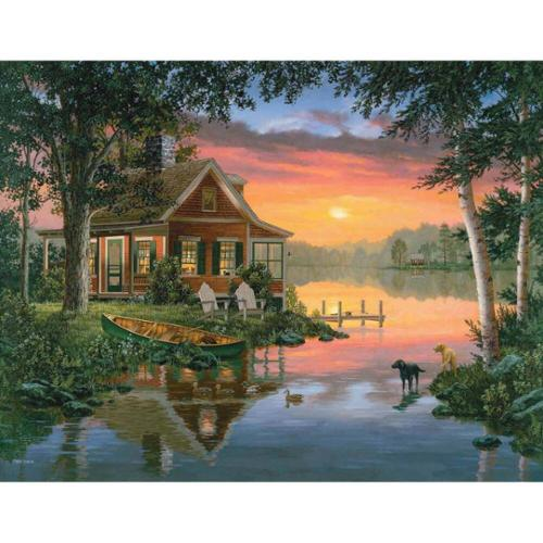 White Mountain Friends in Summer Jigsaw Puzzle