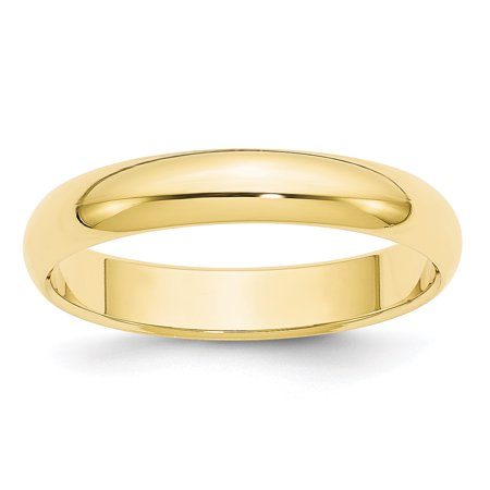 10k Yellow Gold 4mm Half Round Band Size 14