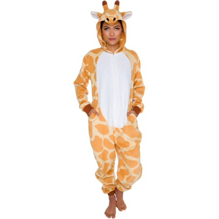 Silver Lilly Adult Slim Fit One Piece Cosplay Giraffe Animal Pajamas - Animal Onesies For Teens