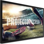 VEVOR Projection Screen 120inch 16:9 Movie Screen Fixed Frame 3D Projector Screen for 4K HDTV Movie Theater