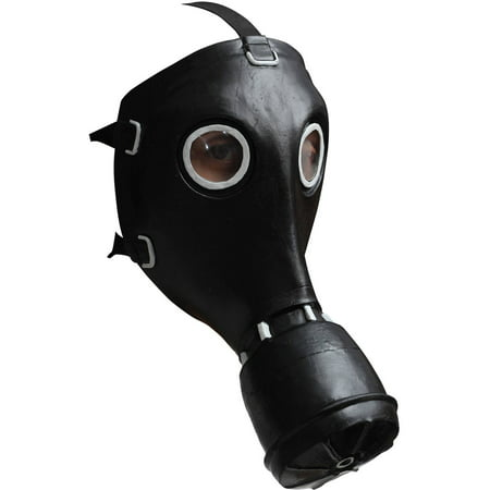 Black Gas Latex Mask Adult Halloween Accessory - Scary Halloween Gas Mask