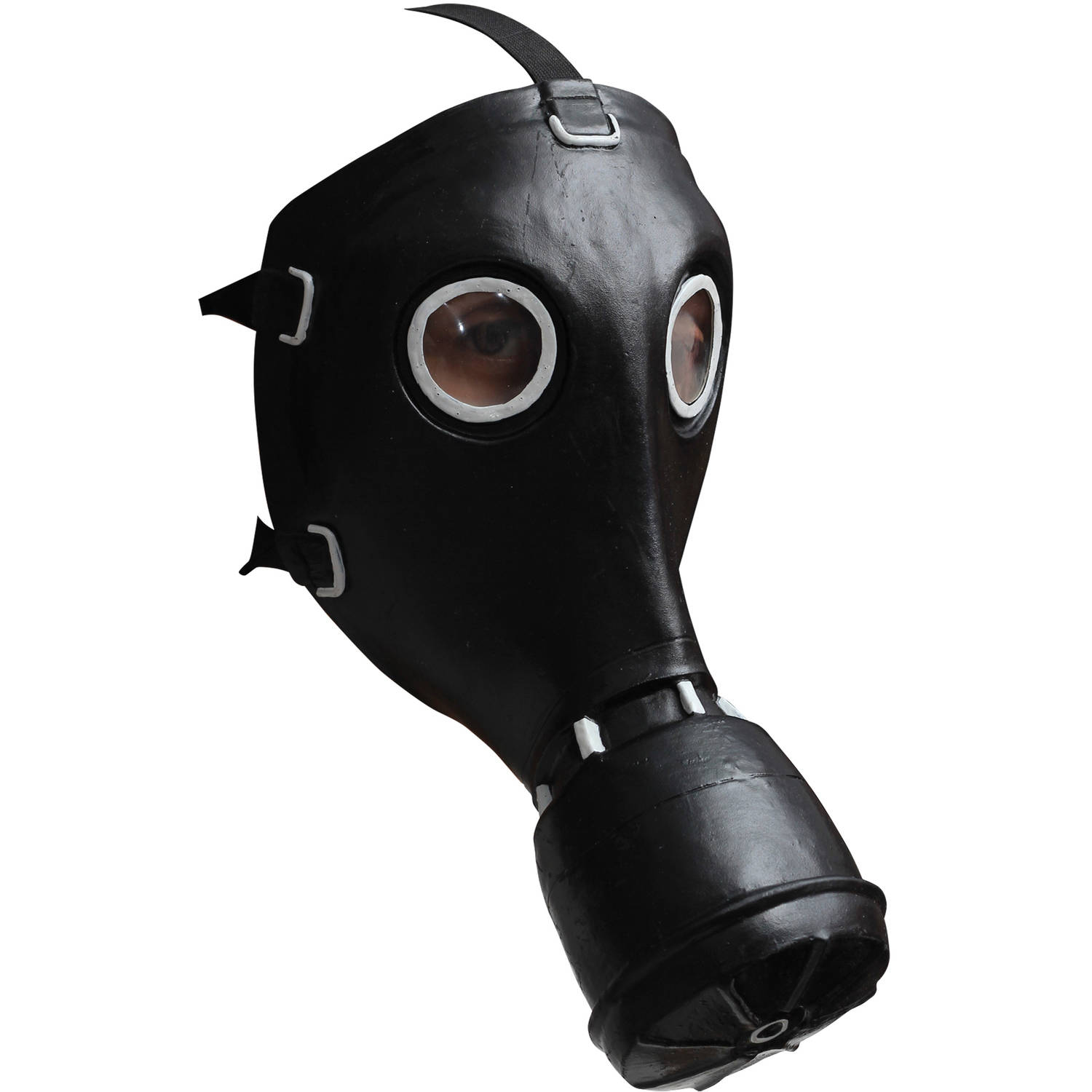 Black Gas Latex Mask Adult Halloween Accessory