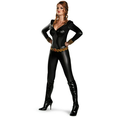 Womens  Marvel Avengers Black Widow Bustier Assassin Costume