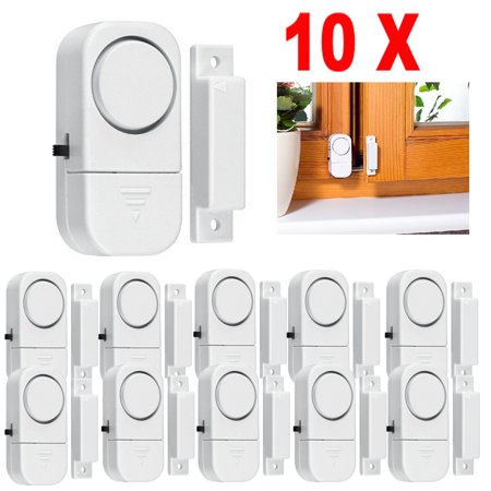 Window Alarm, 10-Pack Mini Wireless Window Door Entry Alarm Burglar Security Alarm System Magnetic Sensor Protector for