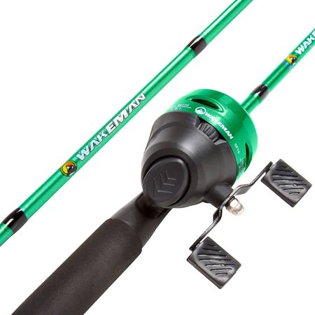 Wakeman swarm series spincast rod and reel combo for Fishing pole at walmart