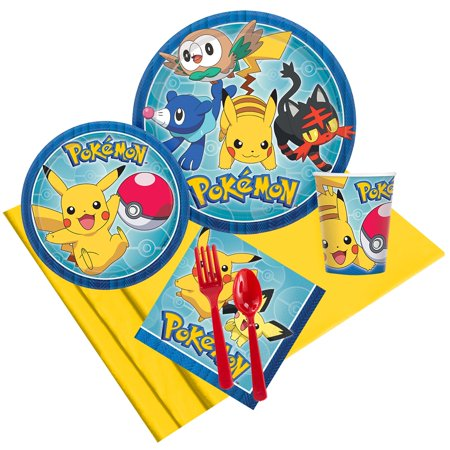 Pokemon Core Party Pack for 8 - Pokemon Party Supplies Walmart