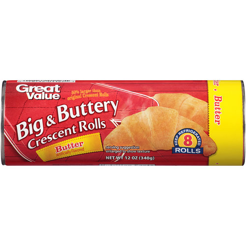 Great Value Big & Buttery Crescent Rolls, 8 ct, 12 oz